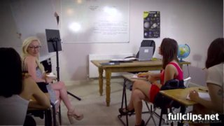 Jasmine James testing the teacher