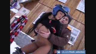 Порно на снегу экстрим фото 672-334