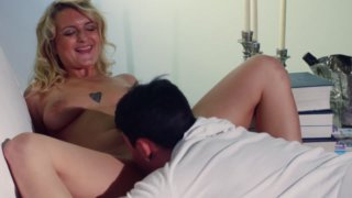 Art Of Cunni - oral sex for a reclining blonde